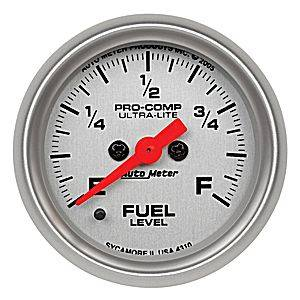 "2-1/16"" Gauges - Auto Meter Ultra Lite Series - Autometer - Auto Meter Ultra Lite Series, Fuel Level Programmable (Full Sweep Electric)"