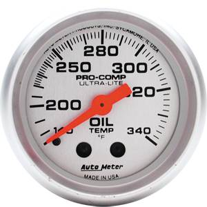 "2-1/16"" Gauges - Auto Meter Ultra Lite Series - Autometer - Auto Meter Ultra Lite Series, Oil Tank Temperature 140*-340*F (Mechanical)"