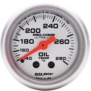 "2-1/16"" Gauges - Auto Meter Ultra Lite Series - Autometer - Auto Meter Ultra Lite Series, Oil Temperature 140*-280*F (Mechanical)"