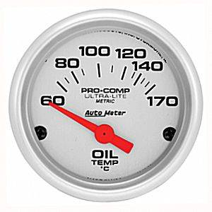 "2-1/16"" Gauges - Auto Meter Ultra Lite Series - Autometer - Auto Meter Ultra Lite Series, Oil Temperature 60*-170*C (Short Sweep Electric)"