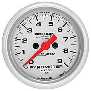 "2-1/16"" Gauges - Auto Meter Ultra Lite Series - Autometer - Auto Meter Ultra Lite Series, Pyrometer 0*-900*C (Full Sweep Electric)"