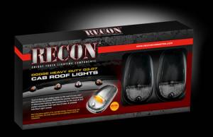 Recon - Recon Cab Roof Lights, Dodge (2003-12) Ram Smoked - Image 3