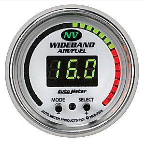"2-1/16"" Gauges - Auto Meter NV Series - Autometer - Auto Meter NV Series, Air Fuel Ratio-Wideband (Full Sweep Electric)"