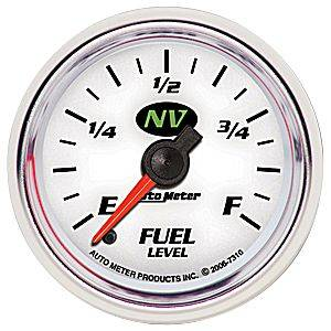 "2-1/16"" Gauges - Auto Meter NV Series - Autometer - Auto Meter NV Series, Fuel Level Programmable (Full Sweep Electric)"