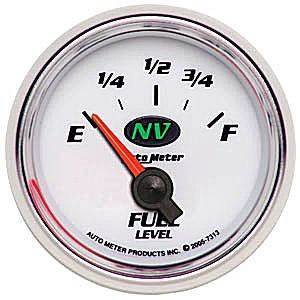 "2-1/16"" Gauges - Auto Meter NV Series - Autometer - Auto Meter NV Series, Fuel Level (Short Sweep Electric) GM"