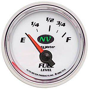 "2-1/16"" Gauges - Auto Meter NV Series - Autometer - Auto Meter NV Series, Fuel Level (Short Sweep Electric) Ford"