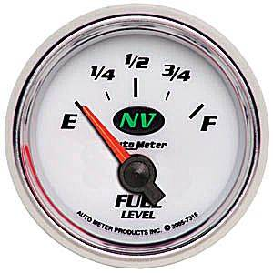 "2-1/16"" Gauges - Auto Meter NV Series - Autometer - Auto Meter NV Series, Fuel Level 240-33 ohms (Short Sweep Electric)"