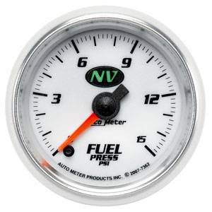 "2-1/16"" Gauges - Auto Meter NV Series - Autometer - Auto Meter NV Series, Fuel Pressure 0-15psi (Full Sweep Electric)"