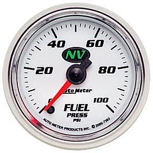 Auto Meter NV Series, Fuel Pressure 0-100psi (Full Sweep Electric)