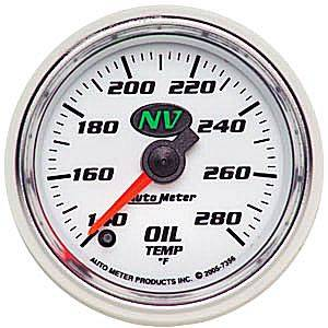 "2-1/16"" Gauges - Auto Meter NV Series - Autometer - Auto Meter NV Series, Oil Temperature 140*-280*F (Full Sweep Electric)"
