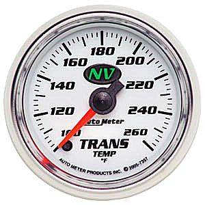 "2-1/16"" Gauges - Auto Meter NV Series - Autometer - Auto Meter NV Series, Transmission Temperature 100*-260*F (Full Sweep Electric)"
