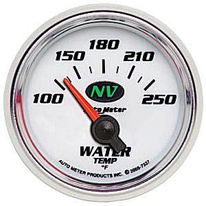 "2-1/16"" Gauges - Auto Meter NV Series - Autometer - Auto Meter NV Series, Water Temperature 100*-250*F (Short Sweep Electric)"