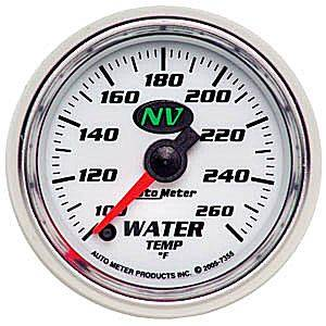 "2-1/16"" Gauges - Auto Meter NV Series - Autometer - Auto Meter NV Series, Water Temperature 100*-260*F (Full Sweep Electric)"