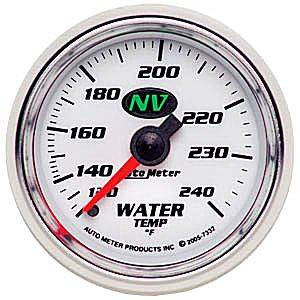 "2-1/16"" Gauges - Auto Meter NV Series - Autometer - Auto Meter NV Series, Water Temperature 120*-240*F (Mechanical)"
