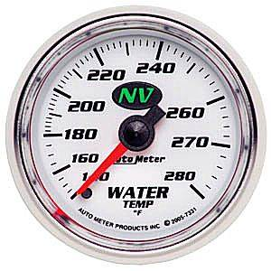 "2-1/16"" Gauges - Auto Meter NV Series - Autometer - Auto Meter NV Series, Water Temperature 140*-280*F (Mechanical)"