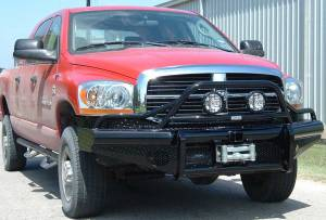 Brush Guards & Bumpers - Front Bumpers - Ranch Hand - Ranch Hand Legend Bullnose Bumper, Dodge (2006-09) 2500/3500 & 1500/2500 Mega Cab, Winch Ready 9.5K