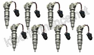 Warren Diesel - Warren Diesel Fuel Injectors, Ford (2003-10) 6.0L Power Stroke, set of 8  225cc (100% over nozzle)