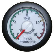 Isspro - Isspro EV2 Series White Face/Red Pointer/Green Lighting, EGT Gauge (0-1600*) Pre-Turbo Color Coded