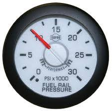 "2-1/16"" Gauges - Isspro EV2 White/Red - Isspro - Isspro EV2 Series White Face/Red Pointer/Green Lighting, Fuel Rail Pressure (0-30,000psi) 5.9L, LB7 6.6L, & LLY 6.6L"