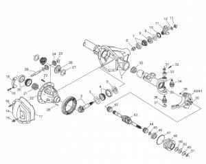 Dana Spicer - Dana Outer Stub Axle Oil Seal Ford (1999-04) F-250/350/450/550 (Dana 60) Inner Seal - Image 2