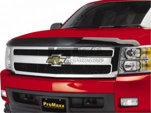 Exterior Accessories - Bug Guards/Hood Shields - Pro Maxx - Pro Maxx Hood Shield, Chevy (2007-12) Tahoe/Suburban/Avalanche, Smoked