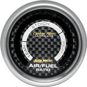 "2-1/16"" Gauges - Auto Meter Carbon Fiber Series - Autometer - Auto Meter Carbon Fiber Series, Air Fuel Ratio Lean Rich, (Full Sweep Electric)"