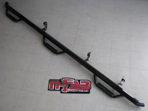 Nerf Bars & Steps - Nerf Steps - N-Fab - N-Fab Nerf Steps, Ford (1987-97) F-250 & F-350 Crew Cab Long Bed, Bed Access (6-Step)