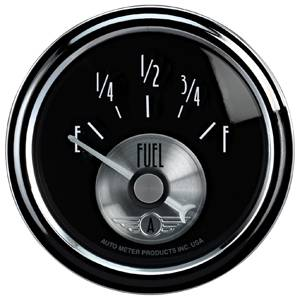 "2-1/16"" Gauges - Auto Meter Prestige Black Diamond Series - Autometer - Auto Meter Prestige Series, Black Diamond, Fuel Level 240-33 ohms (Short Sweep Electric)"