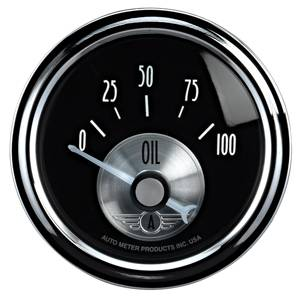 "2-1/16"" Gauges - Auto Meter Prestige Black Diamond Series - Autometer - Auto Meter Prestige Series, Black Diamond, Oil Pressure 0-100psi (Short Sweep Electric)"