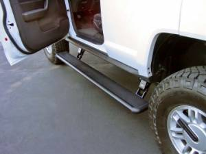 Nerf Bars & Steps - Powered Steps - AMP Research - AMP Research Power Step, Hummer (2005-10) H3, H3T (Black)