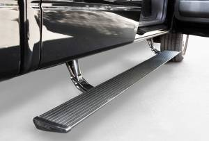 Nerf Bars & Steps - Powered Steps - AMP Research - AMP Research Power Step, Ford (2009-12) F-150 Super Crew/Super Cab (Black)