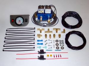 Air Suspension - Air System  Activation Switches - Pacbrake - Pacbrake Simultaneous Air Spring Activation Dash Switch Kit, with Solenoid, 1 Auxiliary Switch, and Dual Needle Gauge