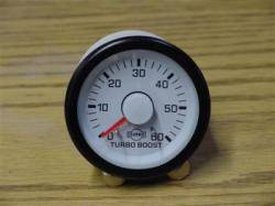 "2-1/16"" Gauges - Isspro EV White/Red - Isspro - Isspro EV Series White Face/Red Pointer, Boost Pressure (60psi)"