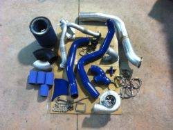 Turbos/Superchargers & Parts - Single Turbo Install Kits - S300 Pius Complete Turbo Kit, Ford (1994-03) 7.3L, stainless steel
