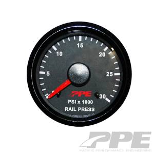 PPE - PPE Fuel Rail Pressure Gauge, Dodge (2003-06) 5.9L Cummins