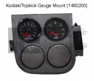 Pacific Performance Engineering - PPE Gauge Pod, Chevy/GMC (2003-08) Kodiak/Topkick, Dash