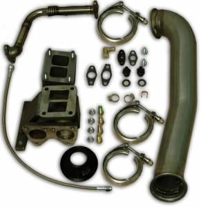 Turbos/Superchargers & Parts - Single Turbo Install Kits - Pacific Performance Engineering - PPE Garrett GT42R Series Turbo Installation Kit, Chevy/GMC (2001-07) 6.6L Duramax LB7/LLY/LBZ