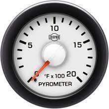 Isspro EV2 Series White Face/Red Pointer/Green Lighting, EGT Gauge (0-2000*)