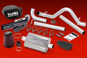 "Exhaust - 2.25"" & 2.5"" Cat Back Exhaust - Banks Power - Banks Stinger System, Jeep (2012) Wrangler 3.6L 4 Door"