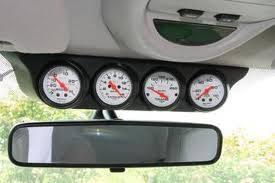 Gauges - Gauge Pods - Autometer - Gauge Works Overhead 4 Gauge Pod