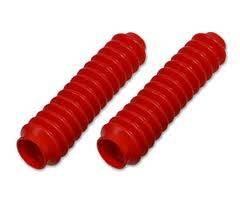 Steering/Suspension Parts - Shock Absorbers - Tuff Country - Tuff Country Shock Boots, Red (pair)
