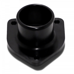 Engine Parts - Coolant System Parts - DieselSite - DieselSite Billet Aluminum Thermostat Housing, Ford (1999-03) 7.3L, Black