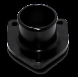 Engine Parts - Coolant System Parts - DieselSite - DieselSite Billet Aluminum Thermostat Housing, Ford (1999-03) 7.3L, Black
