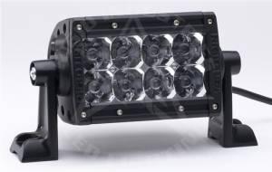 "Off-Road Lighting - Dual Row LED Light Bars - Rigid Industries - Rigid Industries, 4"" E-Series LED Light Bar, Spot , Amber"