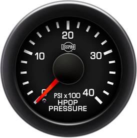 Isspro EV2 Series Black Face/Red Pointer/Green Lighting, HPOP Pressure Gauge Kit (0-4000psi)