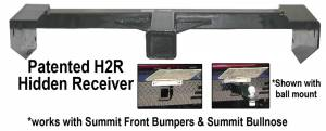 Brush Guards & Bumpers - Front Bumper Replacement Brush Guards - Ranch Hand - Ranch Hand H2R Summit Receiver Hitch, Chevy/GMC (2007.5-12) 1500 Silverado/Sierra