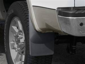 Exterior Accessories - Mud Flaps - Weather Tech - Weather Tech Mud Flaps, Ford (2008-10) Super Duty, Rear (with OE Fender Flares) Black
