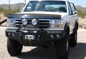 Brush Guards & Bumpers - Front Bumper Replacement Brush Guards - Iron Bull Bumpers - Iron Bull Front Bumper, Ford (1992-96) Bronco, (92-97) F-Series