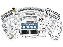 Engine Gaskets & Seals - Engine Overhaul Kits - Ford Genuine Parts - Ford Motorcraft Overhaul Kit, Ford (2003-04) 6.0L Power Stroke, 0.01 Over Sized Pistons