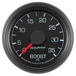 Autometer - Auto Meter Factory Match 2 Gauge Kit, Ford (1999-07) Super Duty, Black Face/Red Pointer/Green Lighting (35psi Boost, EGT) - Image 4